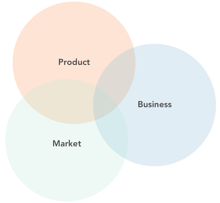 Lean UX with Business, Product and Market focus.